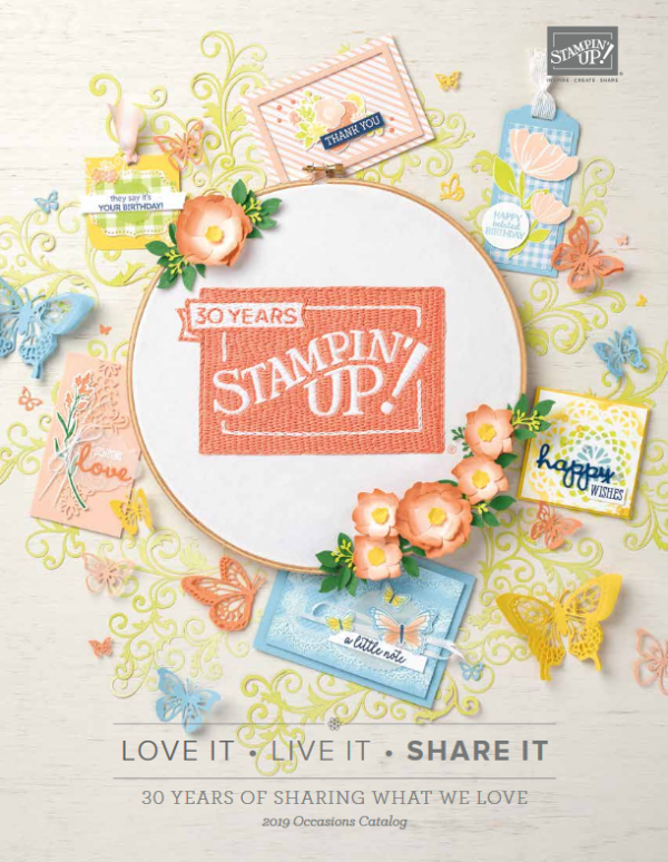 Stampin' Up!'s 2019 Occasions Catalog cover