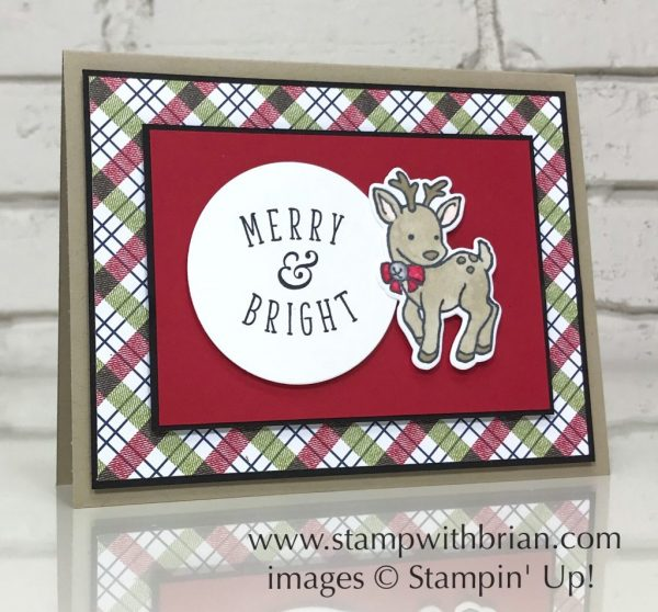 Another Wonderful Year, Seasonal Chums, Stampin' Up!, Brian King, cute Christmas card