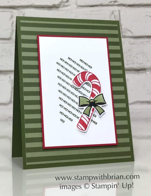 Candy Cane Season, Stampin' Up!, Brian King, simple Christmas card