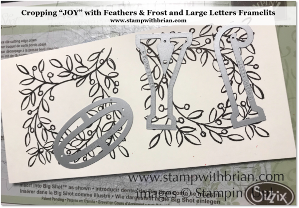 Cropping JOY from the Feathers & Frost stamp set, Stampin' Up!, Brian King