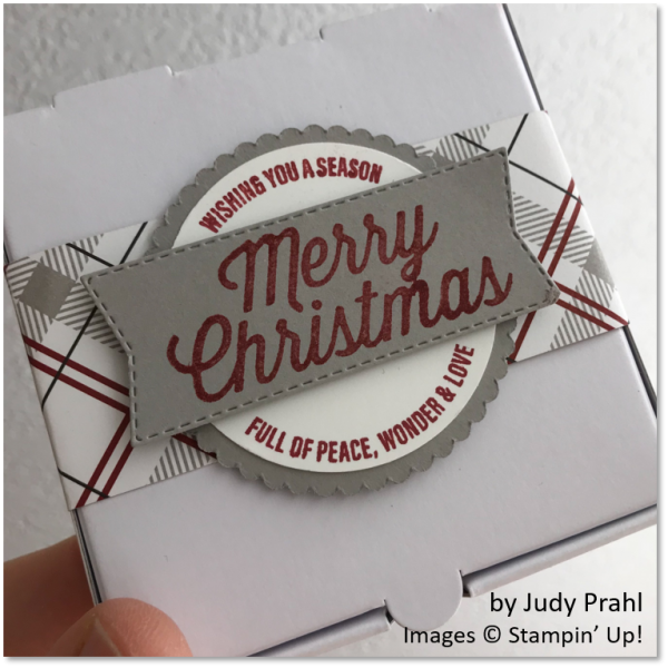 Farmhouse Christmas Gift Box by Judy Prahl, Stampin' Up!
