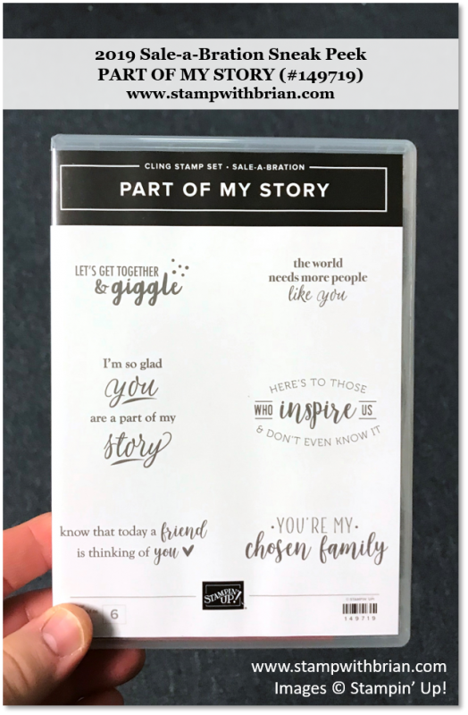 Part of My Story, Stampin' Up! 149719