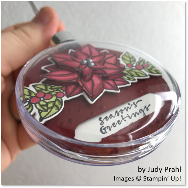 Peaceful Poinsettia Bundle, Ornament by Judy Prahl, Stampin' Up!
