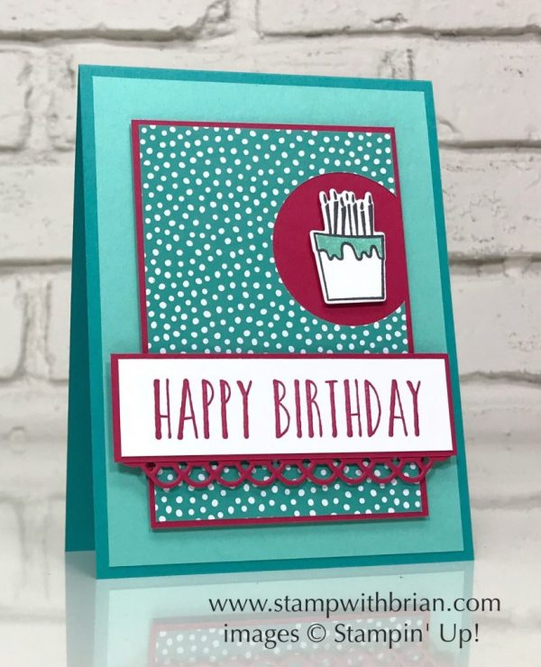 Perennial Birthday, Blow Out the Candles, Stampin' Up!, Brian King, birthday card
