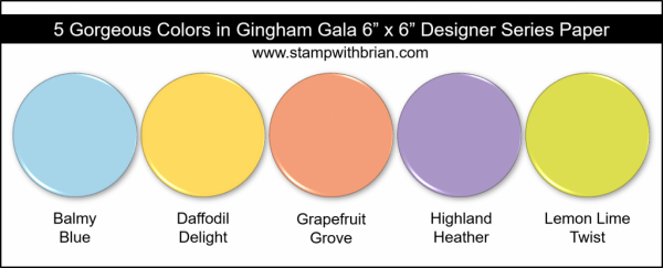 Stampin' Up! Color Inspiration - Balmy Blue, Daffodil Delight, Grapefruit Grove, Highland Heather, Lemon Lime Twist