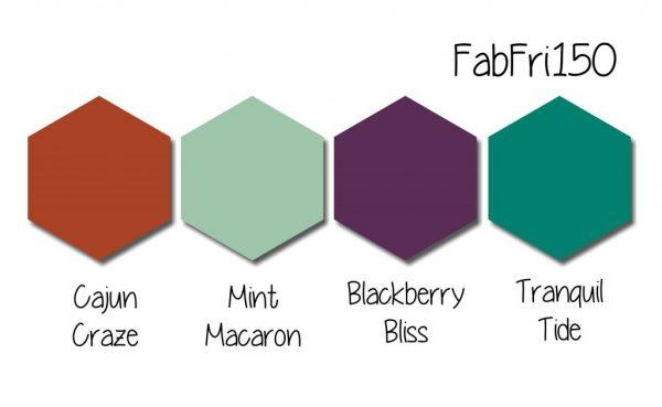Stampin' Up! Color Inspiration - Cajun Craze, Mint Macaron, Blackberry Bliss, Tranquil Tide