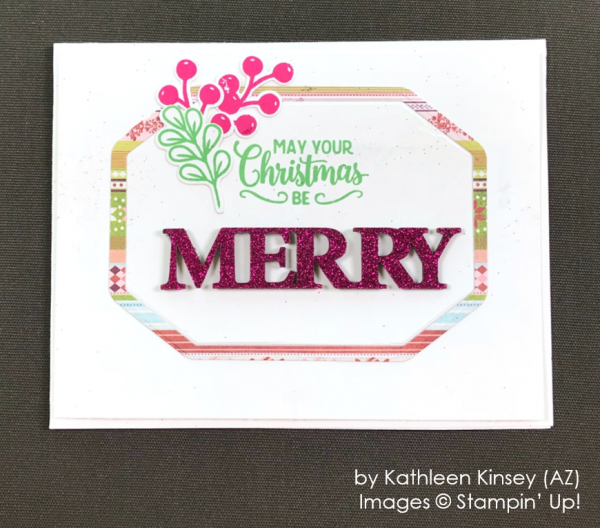 by Kathleen Kinsey, Stampin' Up! One-by-One Holiday Card Swap
