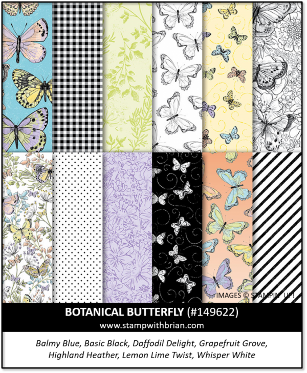 Botanical Butterfly Designer Series Paper, Stampin' Up!, 2019 Sale-a-Bration 149622