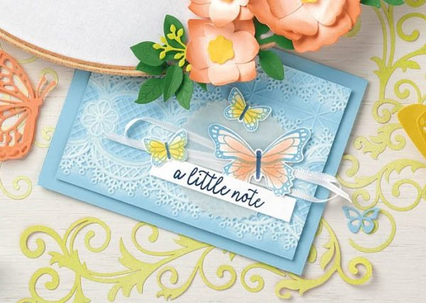 Butterfly Gala, Lace Dynamic Textured Impressions Embossing Folder, Stampin' Up!