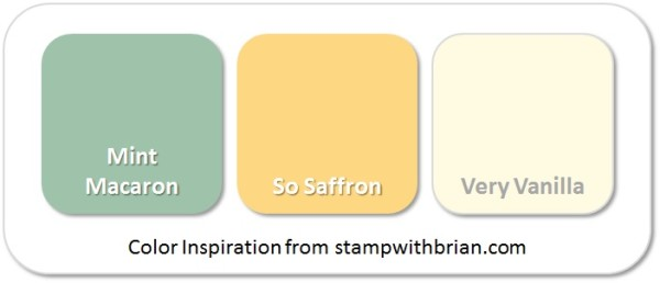 Stampin' Up! Color Inspiration: Mint Macaron, So Saffron, Very Vanilla