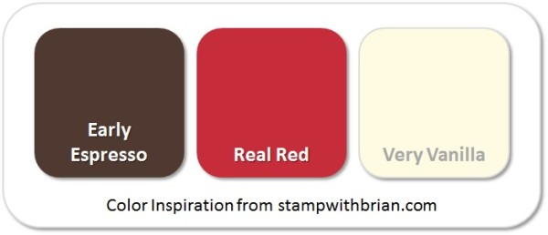 Stampin' Up! Color Inspiration: Early Espresso, Real Red, Very Vanilla