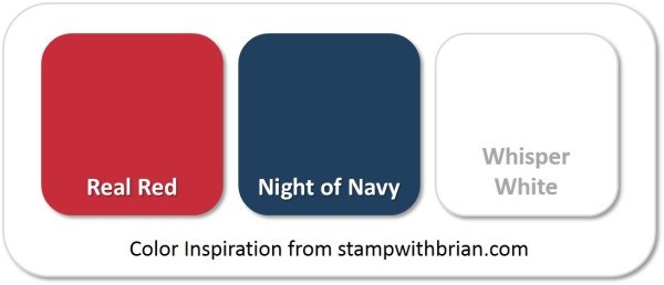 Stampin' Up! Color Inspiration: Real Red, Night of Navy, Whisper White