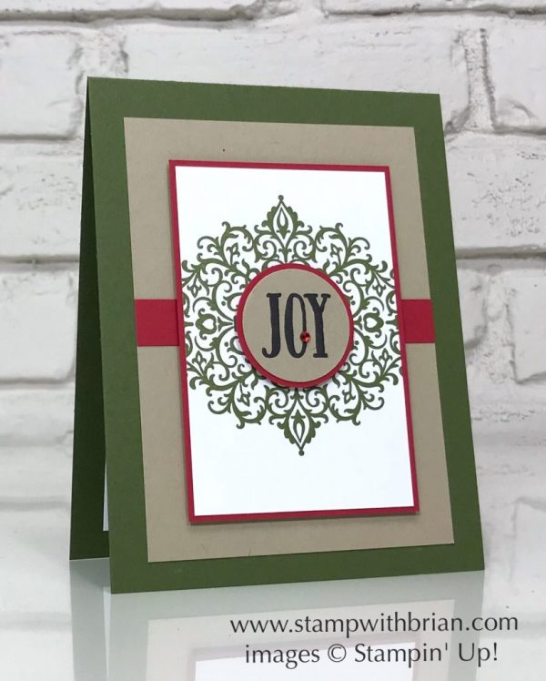 Flourish Filigree, Feathers & Frost, Stampin' Up!, Brian King, Christmas card
