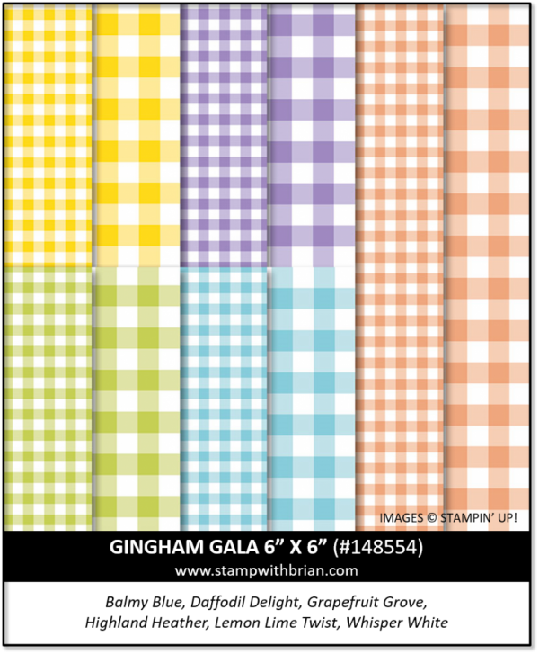 Gingham Gala 6 x 6 Designer Series Paper, Stampin' Up! 148554