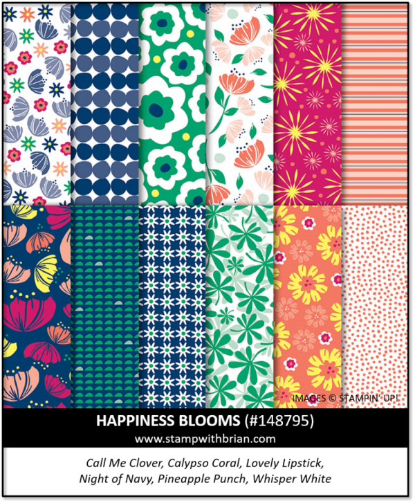 Happiness Blooms Designer Series Paper, Stampin' Up! 148795