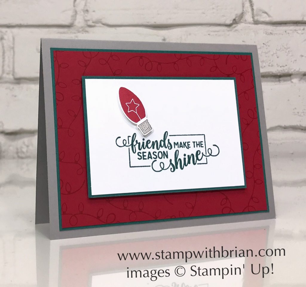 Making Christmas Bright, Stampin' Up!, Brian King, simple Christmas card