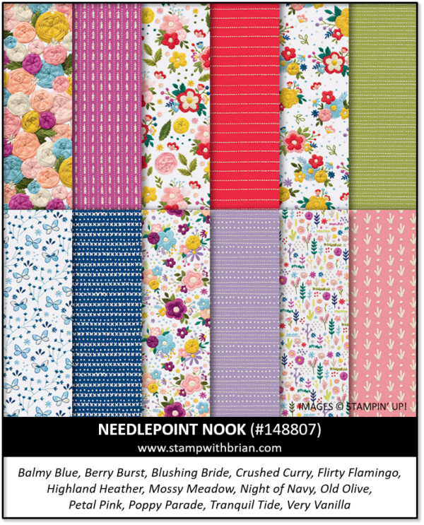 Needlepoint Nook Designer Series Paper, Stampin' Up! 148807