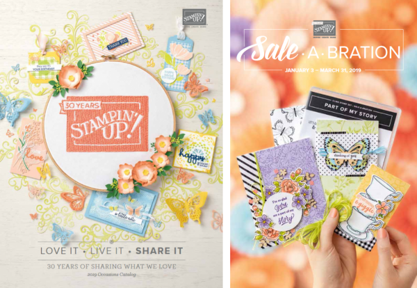 Stampin' Up!'s 2019 Occasions Catalog and Sale-a-Bration Brochure