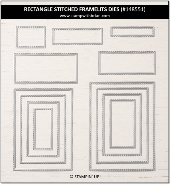Rectangle Stitched Framelits Dies, Stampin' Up!, 148551