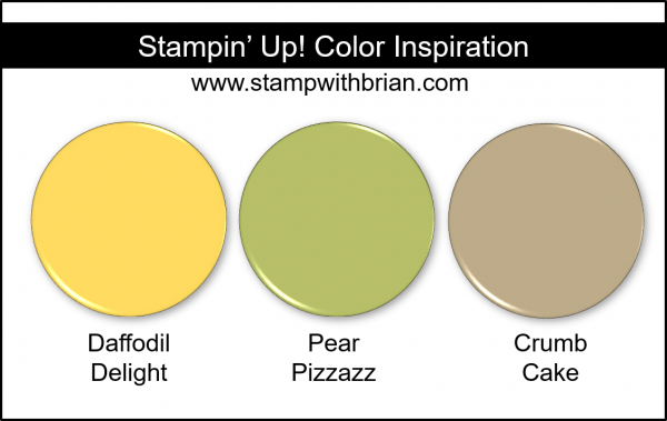 Stampin' Up! Color Inspiration - Daffodil Delight, Pear Pizzazz, Crumb Cake