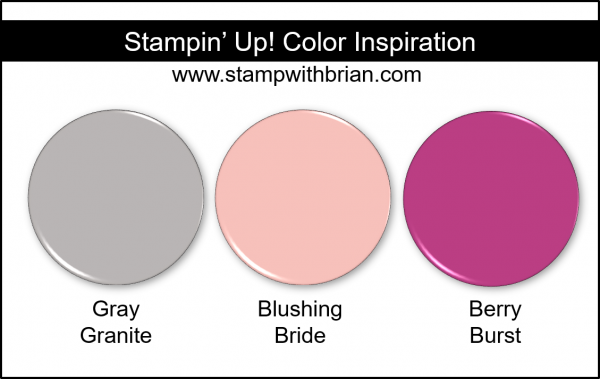 Stampin' Up! Color Inspiration - Gray Granite, Blushing Bride, Berry Burst