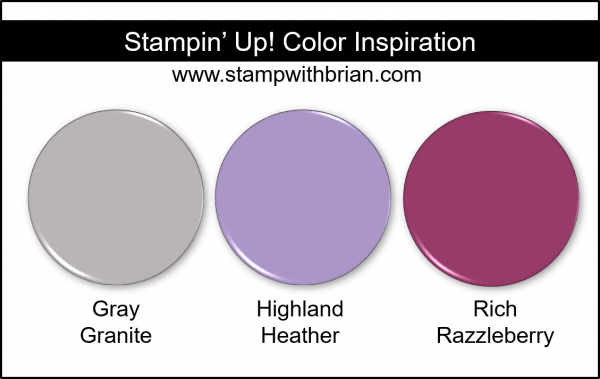 Stampin' Up! Color Inspiration - Gray Granite, Highland Heather, Rich Razzleberry