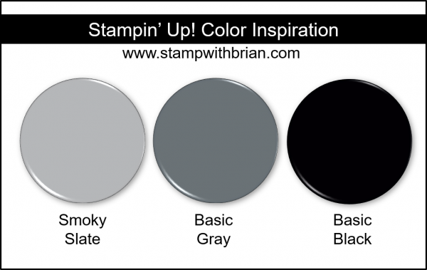 Stampin' Up! Color Inspiration - Smoky Slate, Basic Gray, Basic Black