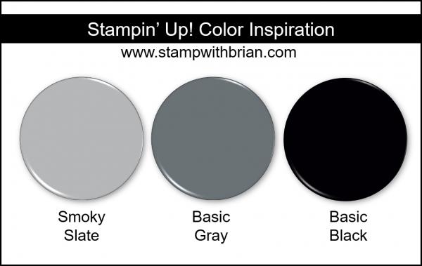 Stampin' Up! Color Inspiration - Smoky Slate, Basic Gray, Basic Black