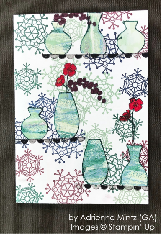 by Adrienne Mintz, Stampin' Up! One-by-One Holiday Card Swap
