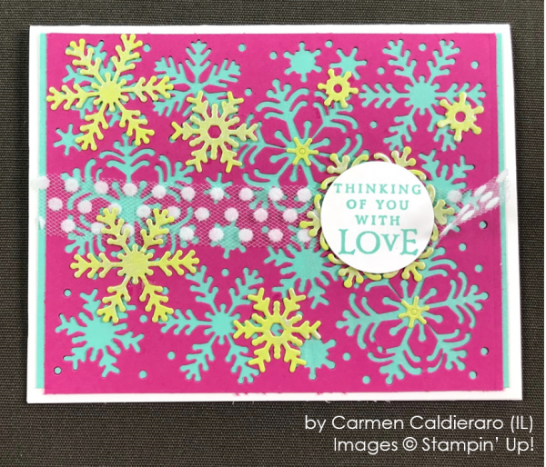 by Carmen Caldieraro, Stampin' Up! One-by-One Holiday Card Swap