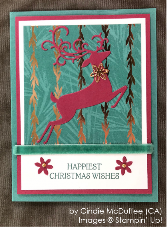 by Cindie McDuffee, Stampin' Up! One-by-One Holiday Card Swap