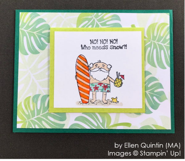 by Ellen Quintin, Stampin' Up! One-by-One Holiday Card Swap