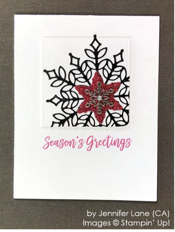 by Jennifer Lane, Stampin' Up! One-by-One Holiday Card Swap