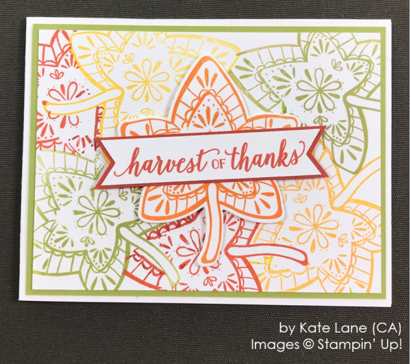 by Kate Lane, Stampin' Up! One-by-One Holiday Card Swap