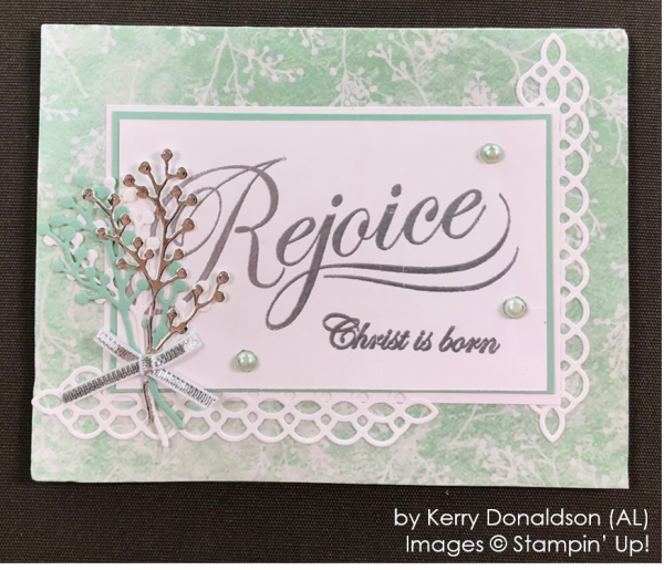 by Kerry Donaldson, Stampin' Up! One-by-One Holiday Card Swap