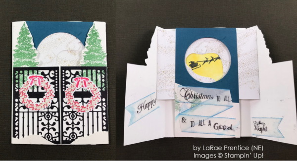 by LaRae Prentice, Stampin' Up! One-by-One Holiday Card Swap