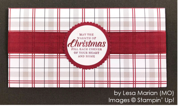 by Lesa Marian, Stampin' Up! One-by-One Holiday Card Swap