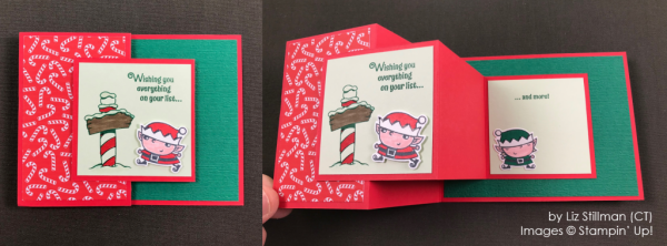 by Liz Stillman, Stampin' Up! One-by-One Holiday Card Swap