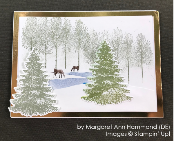 by Margaret Ann Hammond, Stampin' Up! One-by-One Holiday Card Swap