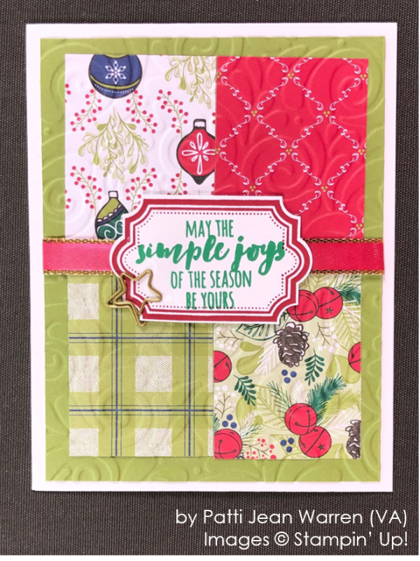 by Patti Jean Warren, Stampin' Up! One-by-One Holiday Card Swap