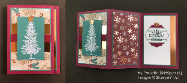 by Paulette Birkbigler, Stampin' Up! One-by-One Holiday Card Swap