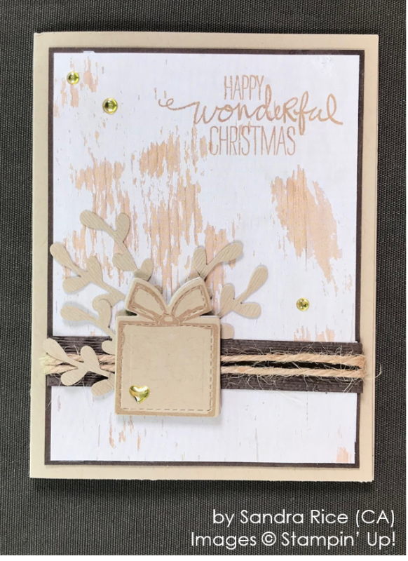 by Sandra Rice, Stampin' Up! One-by-One Holiday Card Swap
