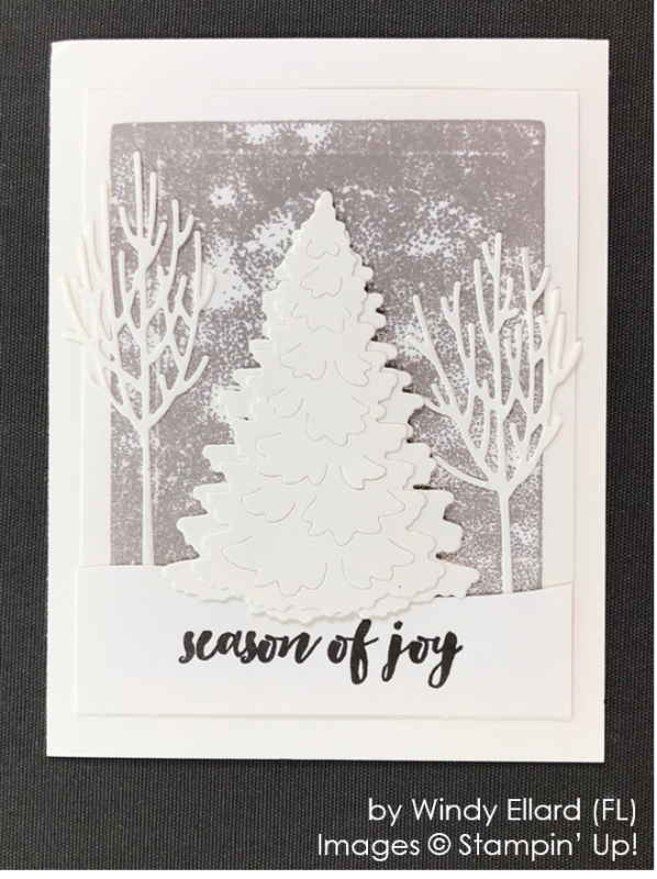by Windy Ellard, Stampin' Up! One-by-One Holiday Card Swap