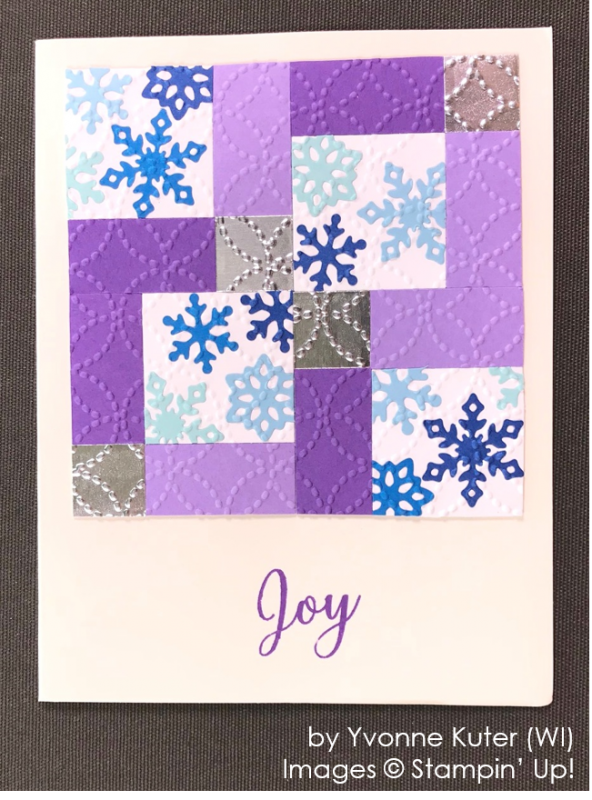 by Yvonne Kuter, Stampin' Up! One-by-One Holiday Card Swap