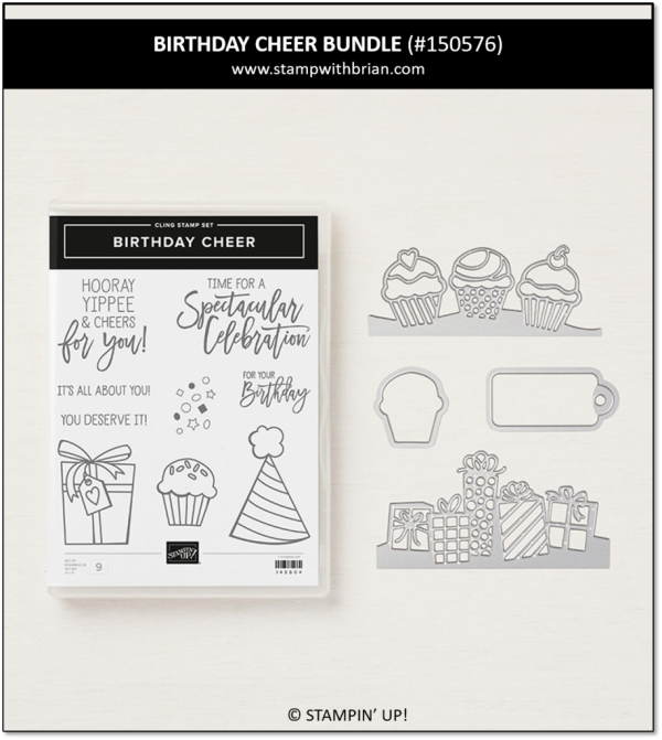 Birthday Cheer Bundle, Stampin' Up! 150576