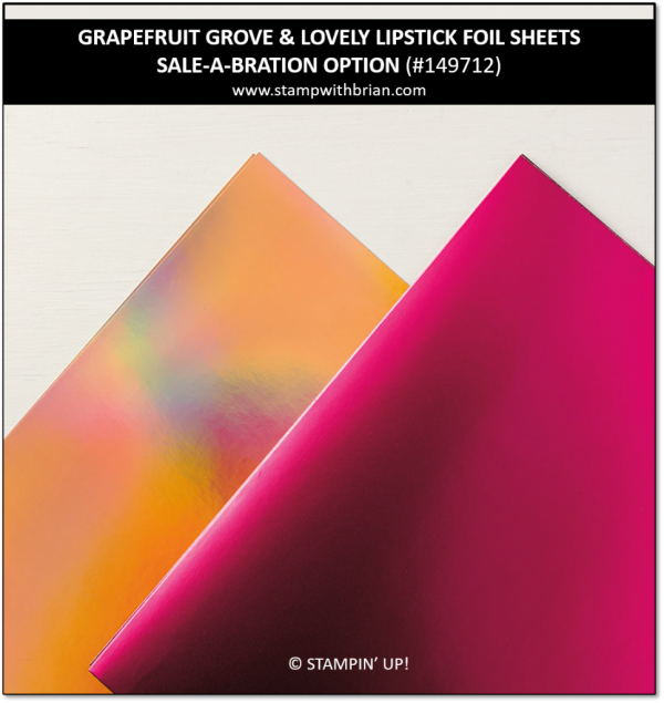 Grapefruit Grove & Lovely Lipstick Foil Sheets, Stampin' Up!, 149712