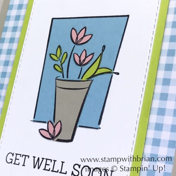 Just Because Host Set, Needle & Thread, Stampin' Up!, Brian King, get well soon card