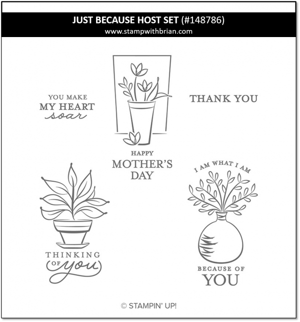 Just Because Host Set, Stampin' Up! 148786