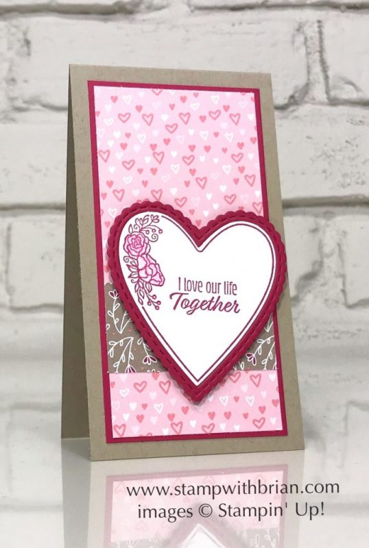 Meant to Be Bundle, All My Love Designer Series Paper, Stampin' Up!, Brian King, Valentine's Day card