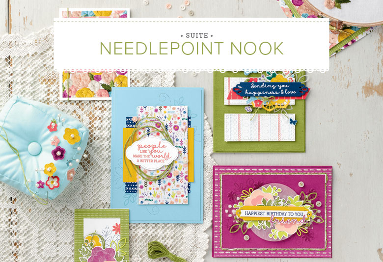 Needlepoint Nook Suite, Stampin' Up! 2019 Occasions Catalog, 11027